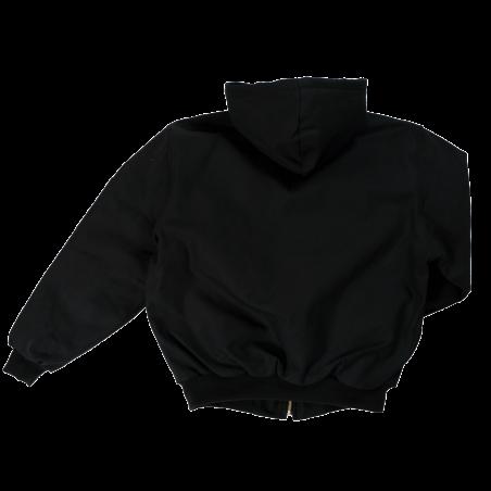 Manteau matelassé réversible noir doublé de polar à bandes réfléchissantes - Jackfield