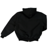 Jackfield reversible quilted fleece lined black jacket with reflective stripes