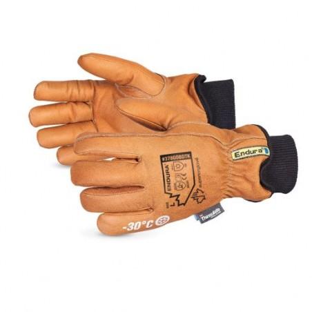Gant de latex adhérant orange avec nylon  - Wipeco