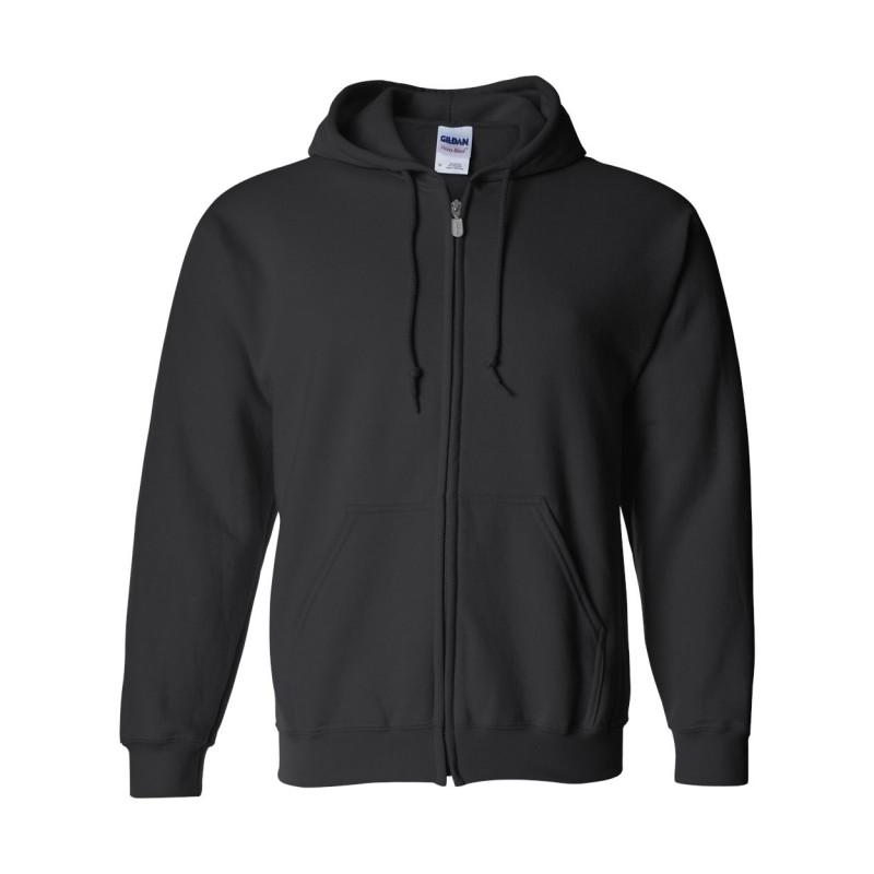 Gildan heavyweight blend hood sweatshirt 50/50 preshrunk zip closureGildan Workwear