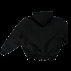 Manteau matelassé réversible doublé de polar noir à bandes réfléchissantes - Jackfield